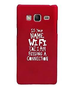 KolorEdge Back Cover For Samsung Galaxy Z3 - Red (6035-Ke15124SamZ3Red3D)