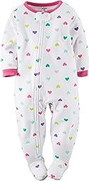 Carters Baby Girl Fleece Pajamas 18 Months Hearts