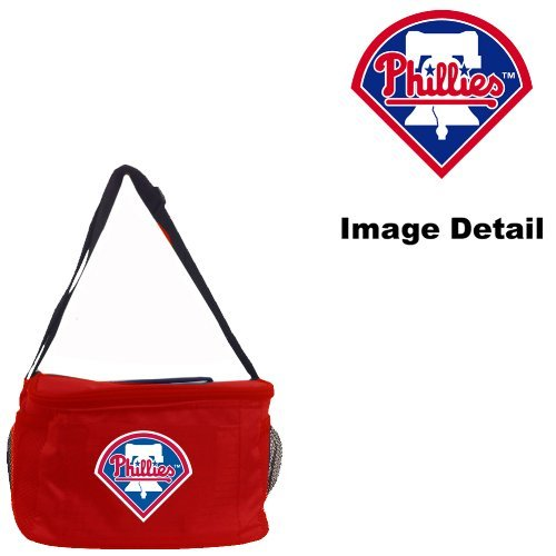 Philadelphia Phillies MLB Team Logo 6-Sports Drink Beer Water Soda Beverage Can Insulated Picnic Outdoor Party Beach BBQ Kooler Cooler Lunch Bag Tote - 6-Pack Bag