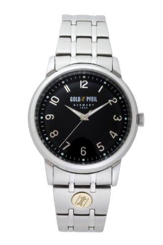 GOLD PFEIL ゴールドファイル 並行輸入品 スタンダード3針モデル メンズ 腕時計 G21001SB ブラック 【正規品】 [時計] [時計]