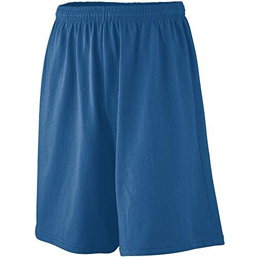 Augusta Sportswear 916 Youth's Longer Length Jersey Short Navy S