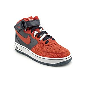 Nike Air Force 1 Mid (GS) Youth Boys Size 3.5 Blue Basketball Basketball Shoes