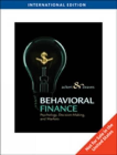 Behavioral finance ackert deaves