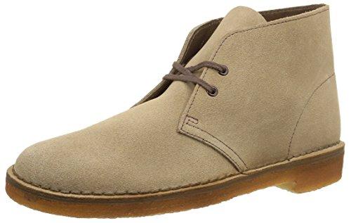 Clarks Originals 26106561 Scarpe stringate Desert Boot, Uomo, Grigio (Wolf), 44