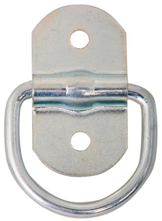 D-Ring Tie Down, Steel - Zinc plated w/1/4