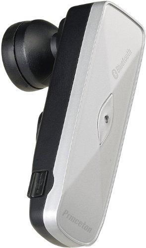 プリンストンテクノロジー 骨伝導機能搭載Bluetooth対応コードレスハンズフリーヘッドセット (シルバー) PTM-BEM7SV