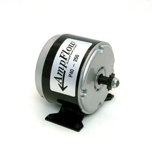 AmpFlow P40-250 Brushed Electric Motor, 250W, 12V, 24V or 36 VDC, 3400 rpm (Brushed Electric Motor compare prices)