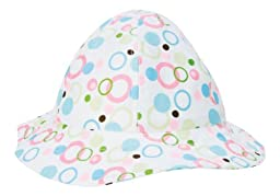 Trend Lab Beach Hat, Cupcake Bubbles, 6 Months
