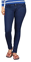 Carrel Bring In Bottom Zip Skinny Jeans Stretchable Denim Rich Blue Colour For Womens