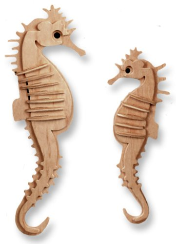 Picture of All4LessShop 3-D Wooden Puzzle - Small Sea-Horse -Affordable Gift for your Little One! Item #DCHI-WPZ-H011 (B004QDPLTW) (3D Puzzles)