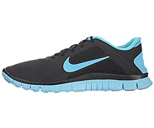 Nike Free 4.0 V3 Men Shoes. Color: Black / Gamma Blue 579958-04 (SIZE: 8.5)