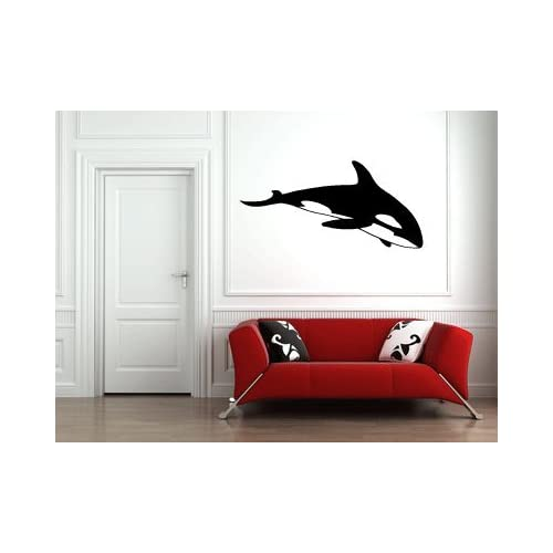Orca Killer Whale Large Vinyl Wall Decal Sticker Graphic By LKS Trading Post