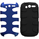 MyBat HTCMYTH4GHPCSK303NP Titanium Fishbone Protective Case for HTC My Touch 4G - 1 Pack - Retail Packaging - Dark Blue/Black