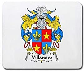 Villanova Family Shield / Coat of Arms Mouse Pad