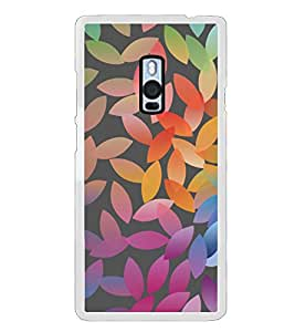 Colourful Leaf Pattern 2D Hard Polycarbonate Designer Back Case Cover for OnePlus 2 :: OnePlus Two :: One +2