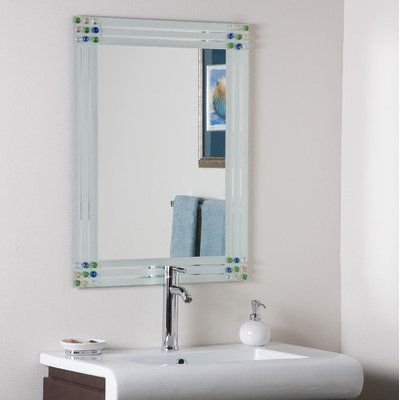 Square Bejeweled Frameless Mirror