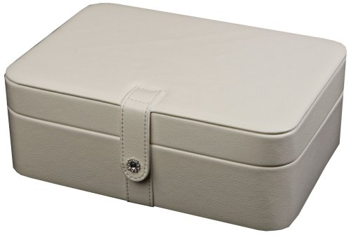 Mele & Co. Remy Ivory Faux Leather 48-Section Jewelry Box