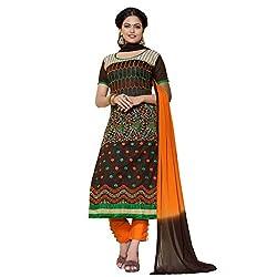 Pari Presents Brown Coloured Dress Material