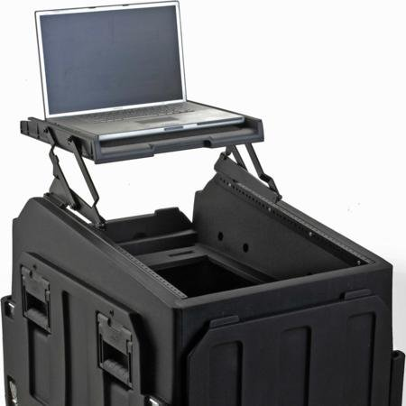 Laptop Shelf For Skb R1406 Mighty Gigrig (555-14061) With Headphones