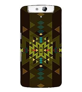 PrintVisa Modern Art Pattern 3D Hard Polycarbonate Designer Back Case Cover for Oppo N1