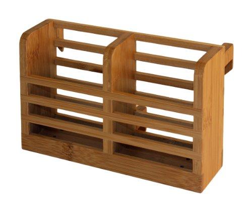 Totally Bamboo Dish Rack Utensil Holder, Brown