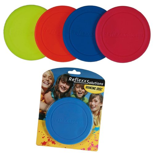Great Party Favour Idea - Childrens RED Plastic Bouncing/ Skimmer Disc/Frisbee Toy, Great fun for the Garden, Park, Pool or Beach, Perfect Stocking Filler