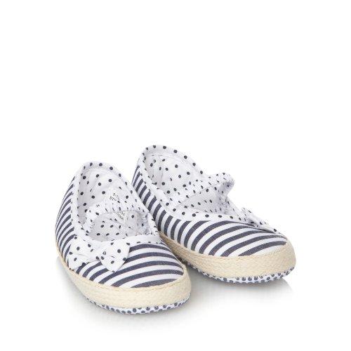 J by Jasper Conran J By Jasper Conran Designer Babies Navy Striped Espadrille Booties