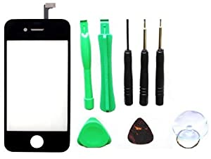 Replacement Front Glass Digitizer Screen + Tools for Apple iPhone 4 / 4G / 4th Generation