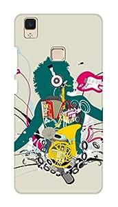 SWAG my CASE PRINTED BACK COVER FOR VIVO V3 Multicolor
