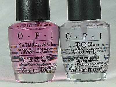 OPI Natural Nail Base Coat & Top Coat COMBO FULL