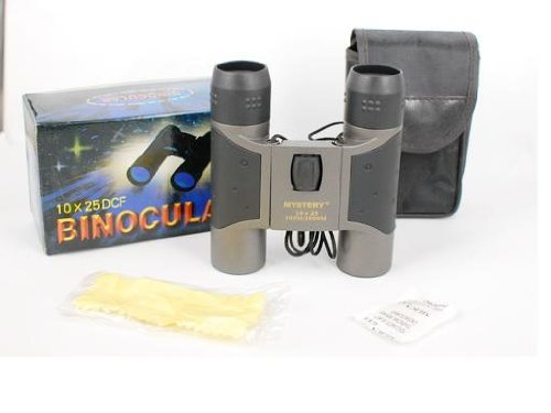 Mystery 10X25 Binoculars With Carrying Pouch For Walking