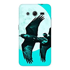 Cyan Raven Back Case Cover for Galaxy Core 2