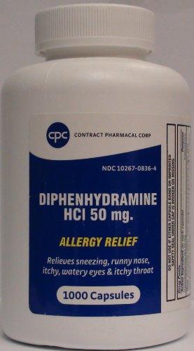 Diphenhydramine HCL 50mg générique pour