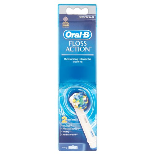 Braun Oral-B EB25-2 FlossAction Replacement Rechargeable Toothbrush Heads 2 Pack