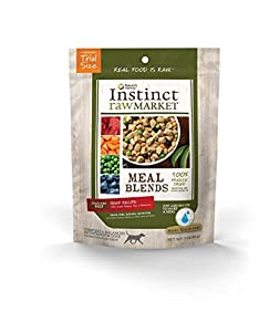 Nature's Variety Instinct Raw Market Grain-Free Freeze Dried Beef Recipe Meal Blends for Dogs, 3 oz. Trial Size Bag