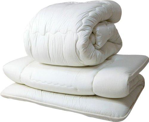 エムール 羊毛布団2点セット 『リーベル』 シングルセット(掛け布団 敷き布団) 防ダニ 抗菌 防臭 日本製