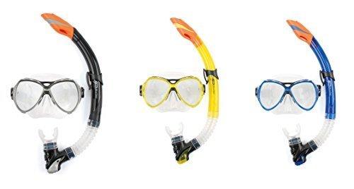 Osprey Tauchmaske und Schnorchel Set Dive Serie Silikon Erwachsene - schwarz