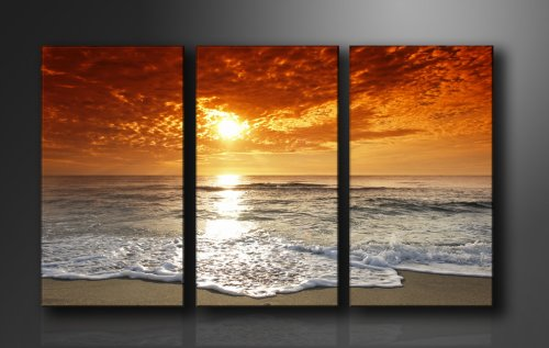 Picture - art on canvas sunset length 63
