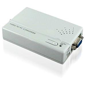 ハイパーツールズ コンポジット/Sビデオ to VGA変換コンバーター CM-398
