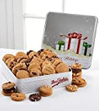 Mrs. Fields Holiday Cookie Tin - 48 Nibblers for Christmas