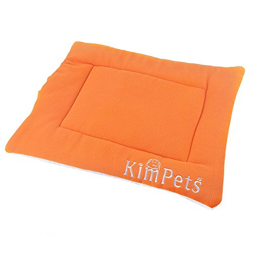 Kinghard Pet Dog Cat Crate Kennel Warm Bed Mat Padding House Cozy (Orange)
