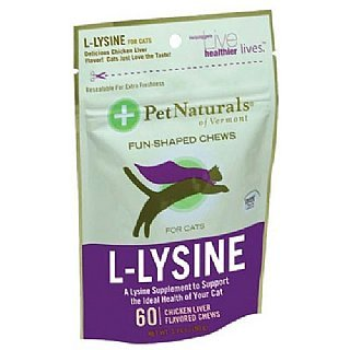 Pet Naturals Of Vermont 068177 L-Lysine For Cats 60 Count