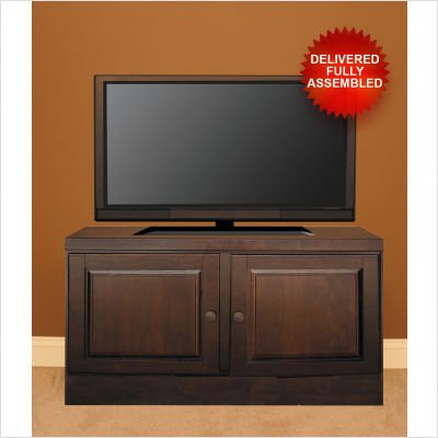 "Curtis Mathes TV Console with Natural Twig Inserts - Mocha (48"")"