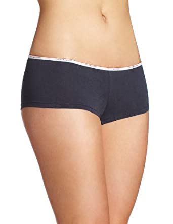 Tommy Hilfiger Women's Classic boyshort Panty, Navy, X-Large