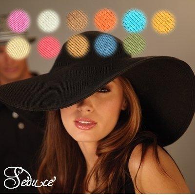 つば広帽子つば大帽子お嬢様帽子チューリップハットセレブ女優帽エレガント日焼け防止