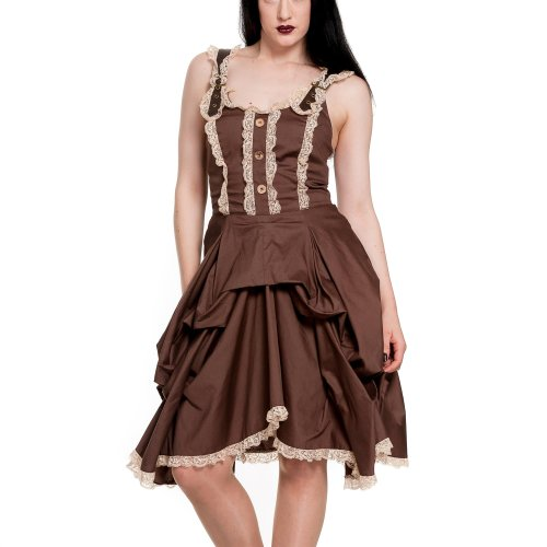 Spin Doctor dell'abito NIA DRESS brown marrone Large