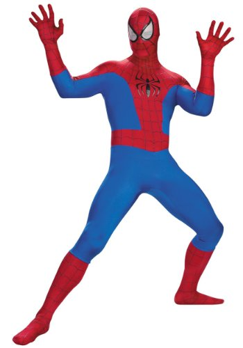 Disguise Mens Deluxe Spider Man Rental Quality Superhero Halloween Costume, Large (42-44)