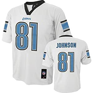 Calvin Johnson NFL Youth Jersey: Away White #81 Detroit Lions Jersey by NFL