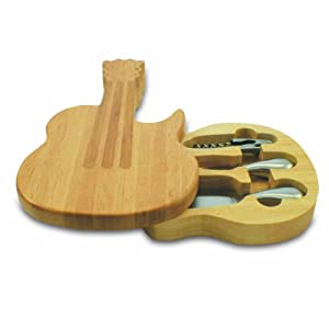 Picnic Time Legacy Guitar Cheese Board and Tool Set