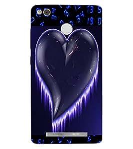 ColourCraft Love Heart Design Back Case Cover for XIAOMI REDMI 3X